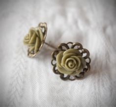 Rose Earrings 0.79 inches (20 mm)
