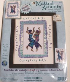 Dimensions Matted Accents Cross Stitch Kit Celebrate Life African Women Dancing #Dimensions
