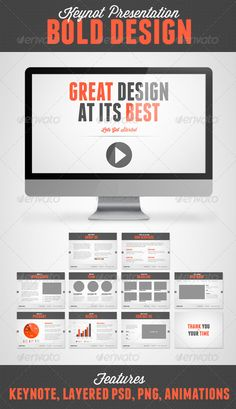 Bold Design Keynote | Keynote theme / template