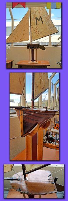 Classic 18 inch 'Big Rig'  Balmain Bug with original sails circa 1930,s $5,500 Balmain, Bugs, Sailing, Restoration, Museum, The Originals, Classic, Candle, Derby