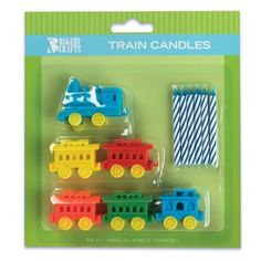 Amazon.com: TRAIN (6) Candle HOLDER Circus Birthday Party Topper Decoration Decor Thomas: Decorative Cake Toppers: Home & Kitchen