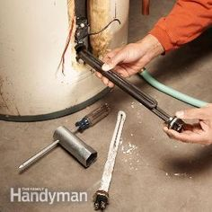 Heating elements on electric hot water heaters sometimes fail long before the water heater, but replacing them in a hot water heater is an easy DIY repair.
