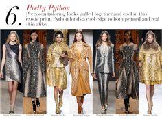 London Fall 2014 Trend Report: Pretty Python | Edited by Roopal Patel and Sarah Slutsky