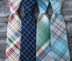 Boys Ties in Assorted Plaids by littlevys on Etsy, $20.00