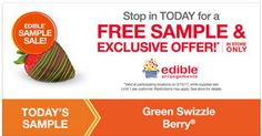 Stop by your local Edible Arrangements store for a Free Green Swizzle Berry! This offer is for today only, 3/15. The above link shows their offer on Facebook If you love Freebies, Deals, Sweepstakes and Instant Win Games, join my group. Megan's Freebies and Deals. Share This: