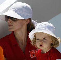 """Spain's Princess Letizia and her daughter Leonor watch the race on board the yacht """"Somni"""" during the last day of racing in the Copa del Rey regatta off the coast of Palma de Mallorca, Spain, Get premium, high resolution news photos at Getty Images"""