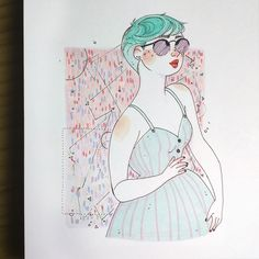 Drawing Tips, Fashion Art, Style Me, Art Drawings, Illustrations, Illustration, Illustrators, Art Paintings