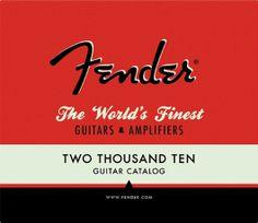 I've alwaya loved the nostalgic style of the Fender font. Fender Product Catalog « matmacquarrie.ca