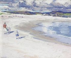 Figures on a Beach, Iona (c.1913), Private Collection F C B Cadell