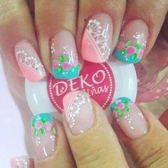 Instagram Image Winter Nail Art, Winter Nails, Summer Nails, Pink Nail Art, Makeup Cosmetics, Art Inspo, Nail Art Designs, Instagram, Beauty
