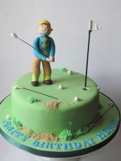Personalised golfer cake Novelty Cakes, Birthday, Fun, Fin Fun, Birthdays, Dirt Bike Birthday, Lol, Funny, Birth Day