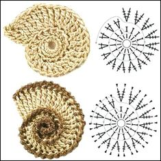 Share Knit and Crochet: Crochet flowers diagram 3 Crochet Round Shapes- Chart - adding to my colection! I need to make two big ones and stuff and sew together for the next Art Au Crochet, Crochet Motifs, Crochet Flower Patterns, Crochet Diagram, Freeform Crochet, Crochet Round, Love Crochet, Irish Crochet, Crochet Crafts