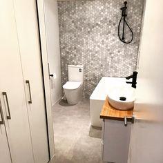 Yarraville bathroom renovation #bathroom #europeanlaundry #joinery #renoworx Bathroom Renovations Melbourne, European Laundry, Joinery, Toilet, Pergola, Building, Carving, Woodworking, Flush Toilet