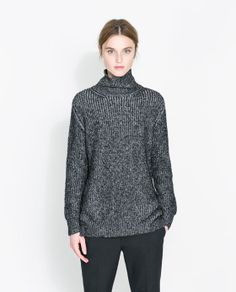 Image 2 of TWIST KNIT ROLL NECK JUMPER from Zara