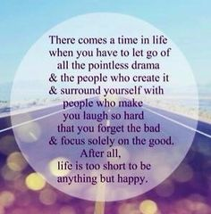 So true! People get so caught up in the drama that they forget that it's JUST facebook! It's not that big of a deal, it's not life or death! Life is too short to worry about the little things. Focus on what's real and what's important :)