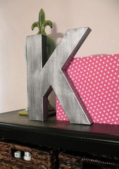 faux metal letters from cardboard letters