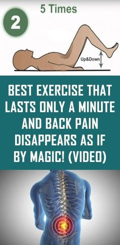 Best Exercise That Lasts Only a Minute and Back Pain Disappears As If By Magic! (Video) Best Exercise That Lasts Only a Minute and Back Pain Disappears As If By Magic! Health Tips For Women, Health And Fitness Tips, Health Advice, Women Health, Back Stretches For Pain, Back Exercises, Yoga Exercises, Exercise For Back Pain, Body Stretches
