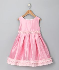 Take a look at this Pink Taffeta Dress - Infant, Toddler & Girls by Donita on today! Infant Toddler, Toddler Girls, Twin Toddlers, Taffeta Dress, Chic Dress, Frocks, Cute Babies, Girl Fashion, Girl Outfits