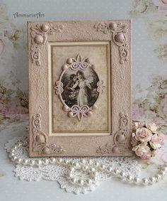 Romantic shabby chic frame