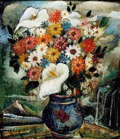 Vaso com flores, 1933 Alberto da Veiga Guignard (Brasil, 1896-1962) óleo sobre cartão, 41 x 34 cm