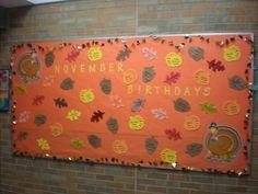 November Birthday Bulletin Board