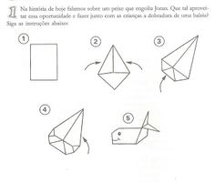 Whale origami for the story of Jona