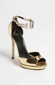 B Brian Atwood 'Cassise' Sandal- gold. I almost bought these... and then stopped myself... Regrets. :(