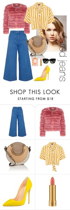 """flared jeans"" by meryembts ❤ liked on Polyvore featuring STELLA McCARTNEY, Alice + Olivia, Chloé, Topshop, MAC Cosmetics and Yves Saint Laurent"