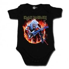 Body Bebé metal Iron Maiden Fear Live Flame #metalkids #rockbabyclothes #ropabeberock