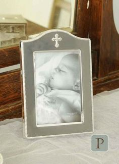 Display a favorite snapshot in one of our beautiful baby frames! Perfect for Christening gifts, Baptism gifts or Godparent gifts! Godparent Gifts, Baptism Gifts, Baby Frame, Christening Gowns, Daughter Of God, Beautiful Babies, Thoughtful Gifts, Display, Children