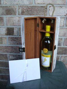 Love Letter Wine Box Wedding Wine Box tradition by TipJarsAreUs, $29.99