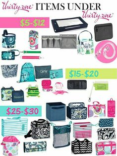 Shopping with a price range in mind - Thirty-One has something for everyone at the price you are looking for.  Www.mythirtyone.com/kfarrington