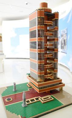 LEGO - SC Johnson Research Tower   Frank Lloyd Wright