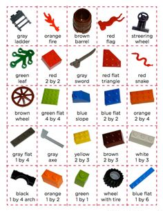 Lego Bingo or a simple matching activity - fun!!