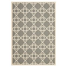 Woven indoor/outdoor rug with a Moroccan tile motif. Made in Turkey.  Product: RugConstruction Material: Polypro...