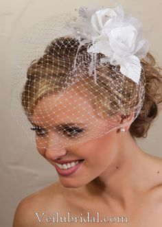 Birdcage veil - I want a 50s style wedding like my grandmother with pearls and all!