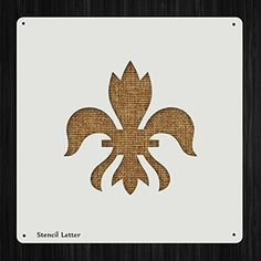 Fleur De Lis Style 1022 , DIY Plastic Stencil Acrylic Mylar Reusable *** Want to know more, click on the image.
