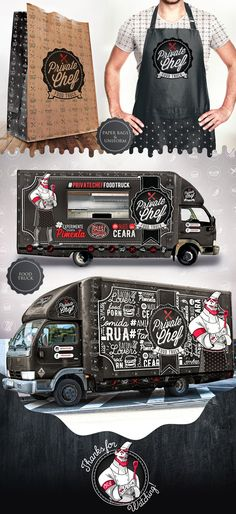 Private Chef Food Truck on Behance                                                                                                                                                     Más