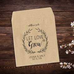 Wedding Seed Packet Seed Packet Personalized Favor by MinikinGifts