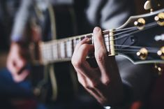 Learning to play guitar can be expensive, if you get lessons. But, it's possible to learn guitar by yourself. Here are my tips How To Learn Guitar at Home Guitar Chords, Acoustic Guitar, Online Guitar Lessons, Types Of Guitar, Fingerstyle Guitar, Cool Electric Guitars, Cheap Guitars, Learn To Play Guitar, Jazz Band