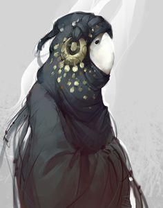 White mask, Ola Karambola Starodubtseva on ArtStation at https://www.artstation.com/artwork/white-mask