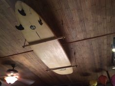 Bamboo Surfboard Ceiling Rack