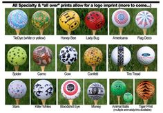 Cool Golf Balls - but can you find them when they go a little, shall we say, off course?