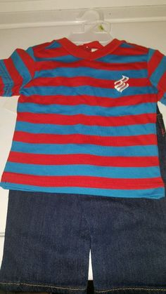 Nwt ROCAWEAR  2 pc T-SHIRT & DENIM JEANS INFANT BABY BOY'S SET 3-6 MONTHS #Rocawear #Everyday