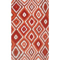 Hand-hooked Navajo Red Poly Acrylic Area Rug (5' x 7'6) - Overstock Shopping - Great Deals on 5x8 - 6x9 Rugs