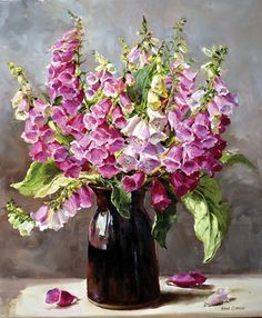 Foxgloves - Limited Edition Print | Mill House Fine Art – Publishers of Anne Cotterill Flower Art