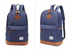 Kaukko Women Men Backpack Blue Oxford Retro Fashion Style 18L Outdoor  #Kaukko