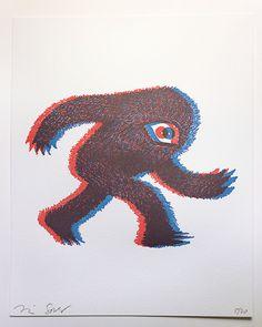 """More Scared"" Art Print by Tim Gough"