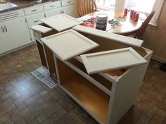 Easy, simple DIY kitchen island for less than $500