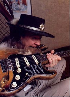 The great Stevie Ray Vaughan always knew how to relic a guitar. (Pic & txt: Seymour Duncan)